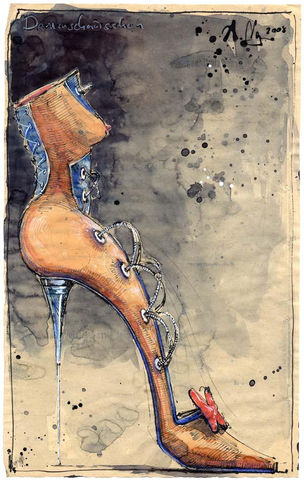 Damenschnürschuh