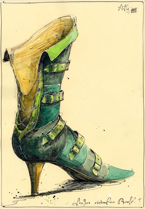 Großer rückenfreier Stiefel