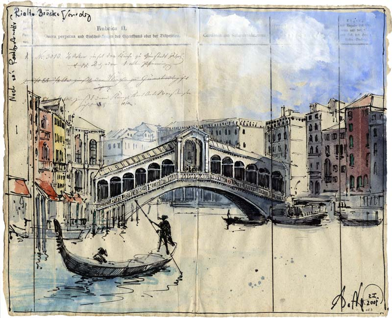 Noch so´n Postkartenmotiv - Rialto Brücke Venedig