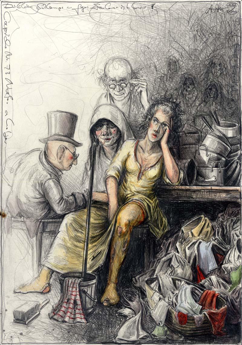 """Die kleine Schlampe - n. Goyas Capricho No. 73 """"Faulenzen ist besser"""""""