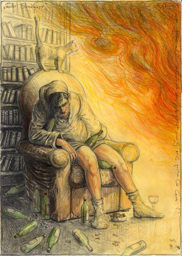 """Der Saufkopp - n. Goyas """"Und ihm brennt das Haus nieder - Y se le quema la casa"""""""