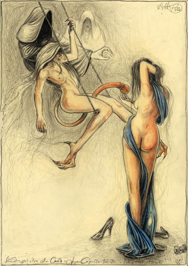 Kleingeister der Lust - nach Goyas Capricho No. 74 - No grites, tonta
