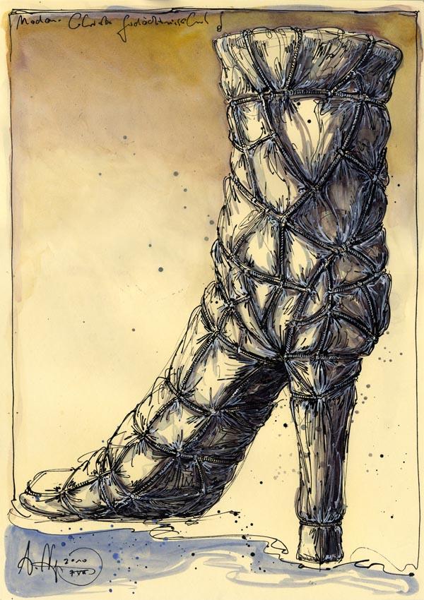 Madame Christo Gedächtnis Schuh