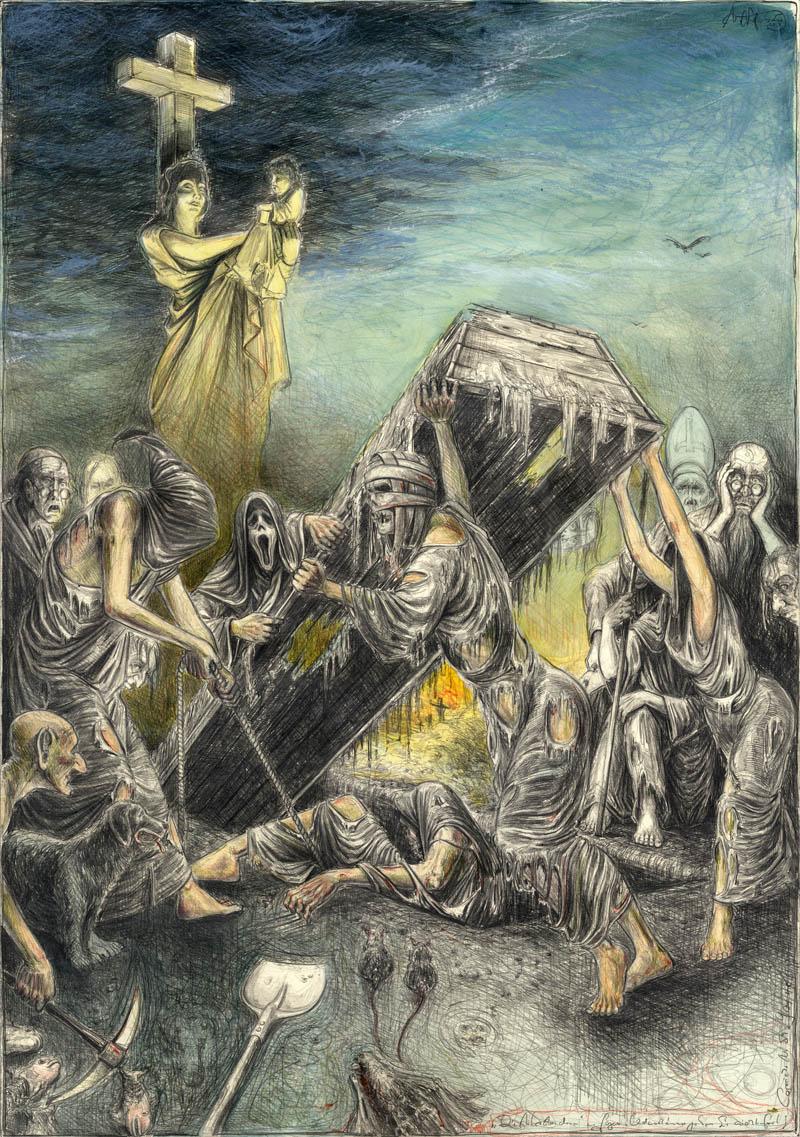 Die Auferstandenen (n. Goyas Capricho No. 59 - Und noch immer gehen Sie nicht fort)
