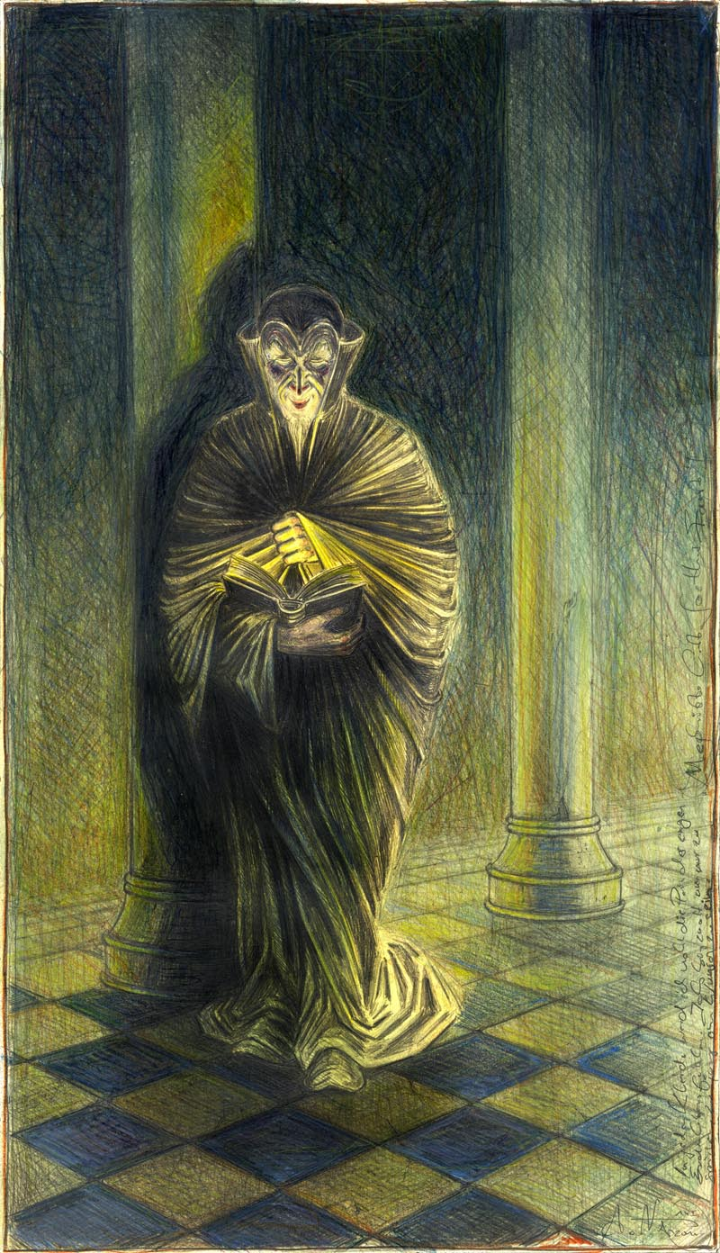 Mephisto liest Goethes Faust