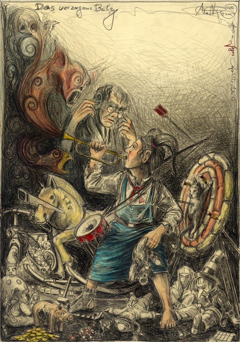 Das verzogene Balg (frei n. Goyas Cparicho No. 4)