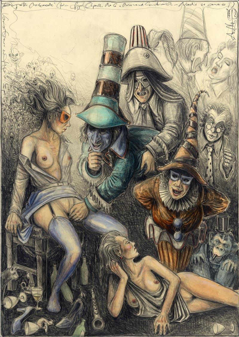 Die große Maskerade (frei n. Goyas Capricho No.6)