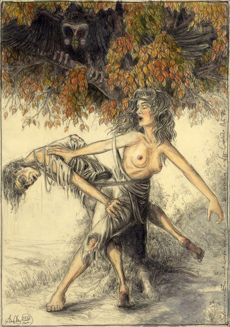 Szene einer Ehe ... und wieso bindet sie keiner los? (frei n. Goyas Capricho No.75)