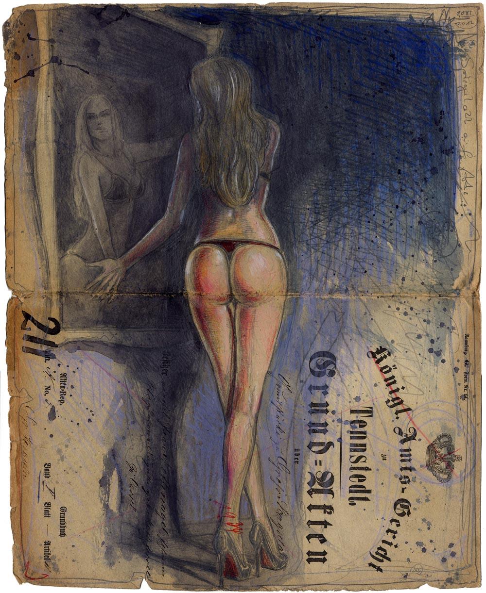 Im Sinne von: Das Bildnis des Dorian Gray - Spiegelakt auf Akte