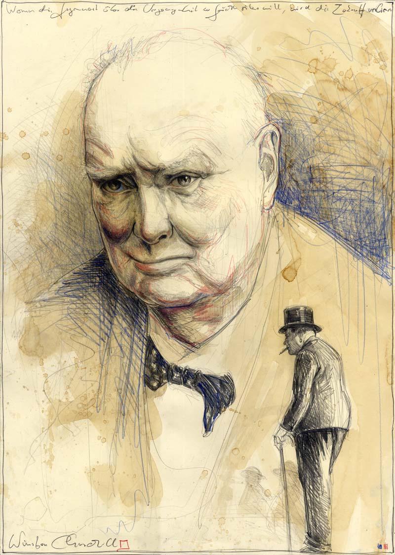 Wenn die Vergangenheit über die Gegenwart zu Gericht sitzen will, wird die Zukunft verlieren - Winston Churchill