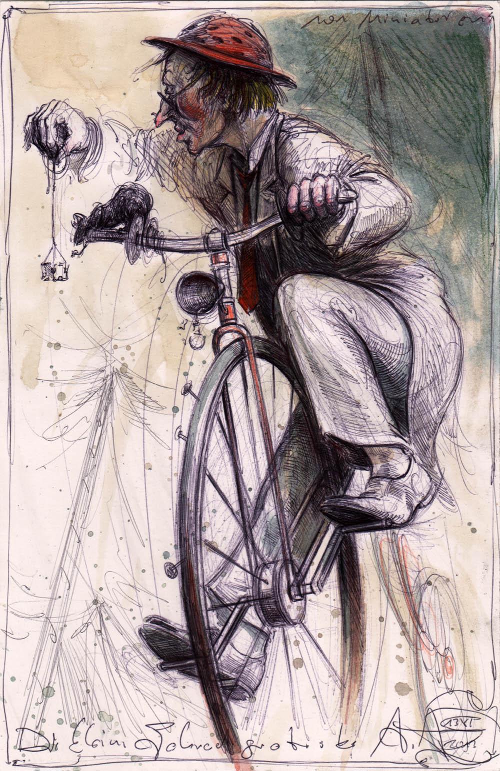 Kleine Fahrradgroteske