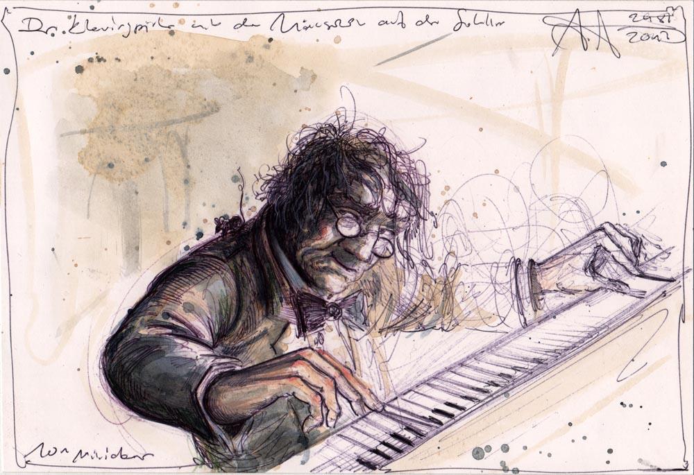 Der Klavierspieler mit dem Mäuschen auf der Schulter