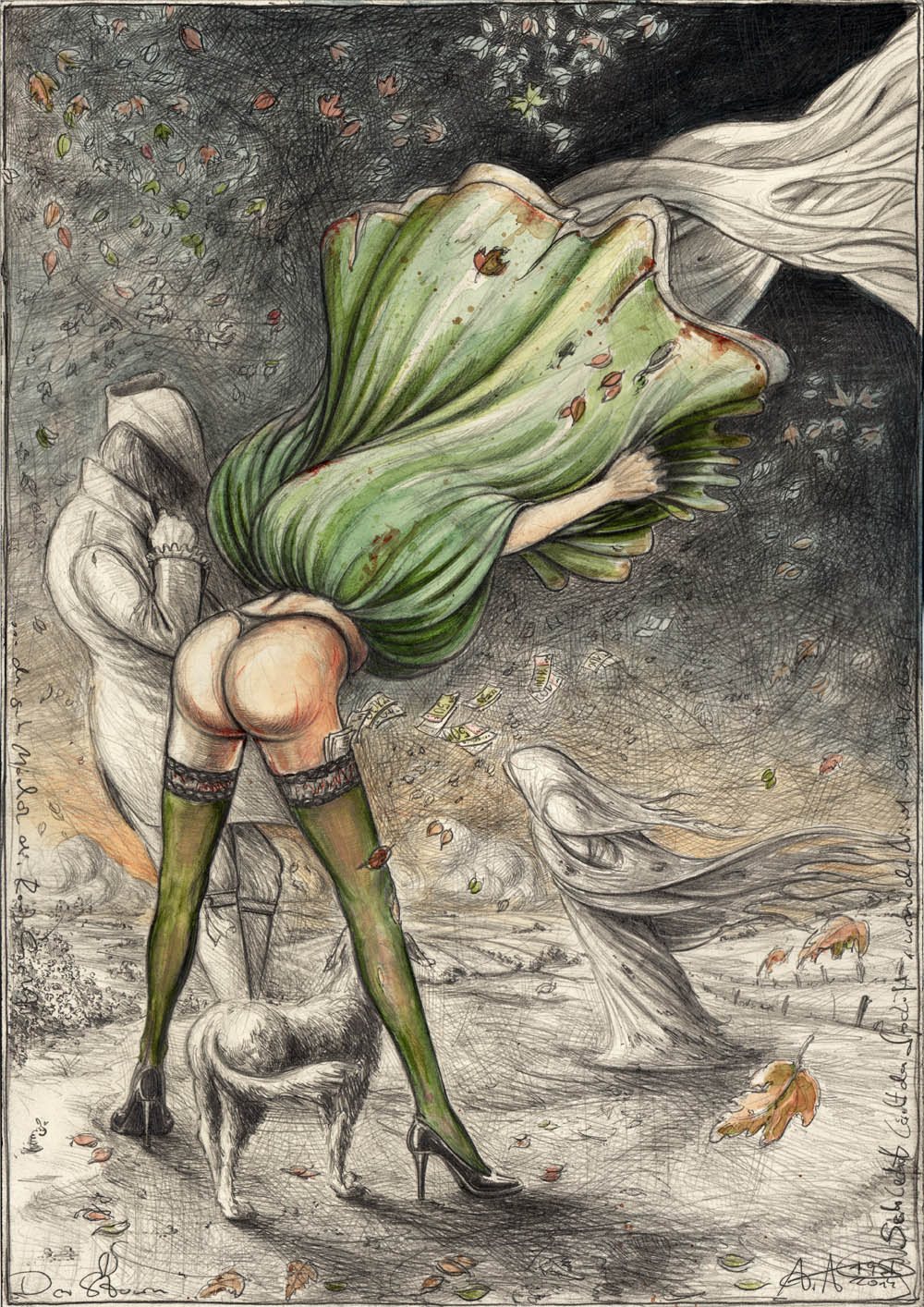 Der Sturm (frei n. Goyas Caprichos No. 36)
