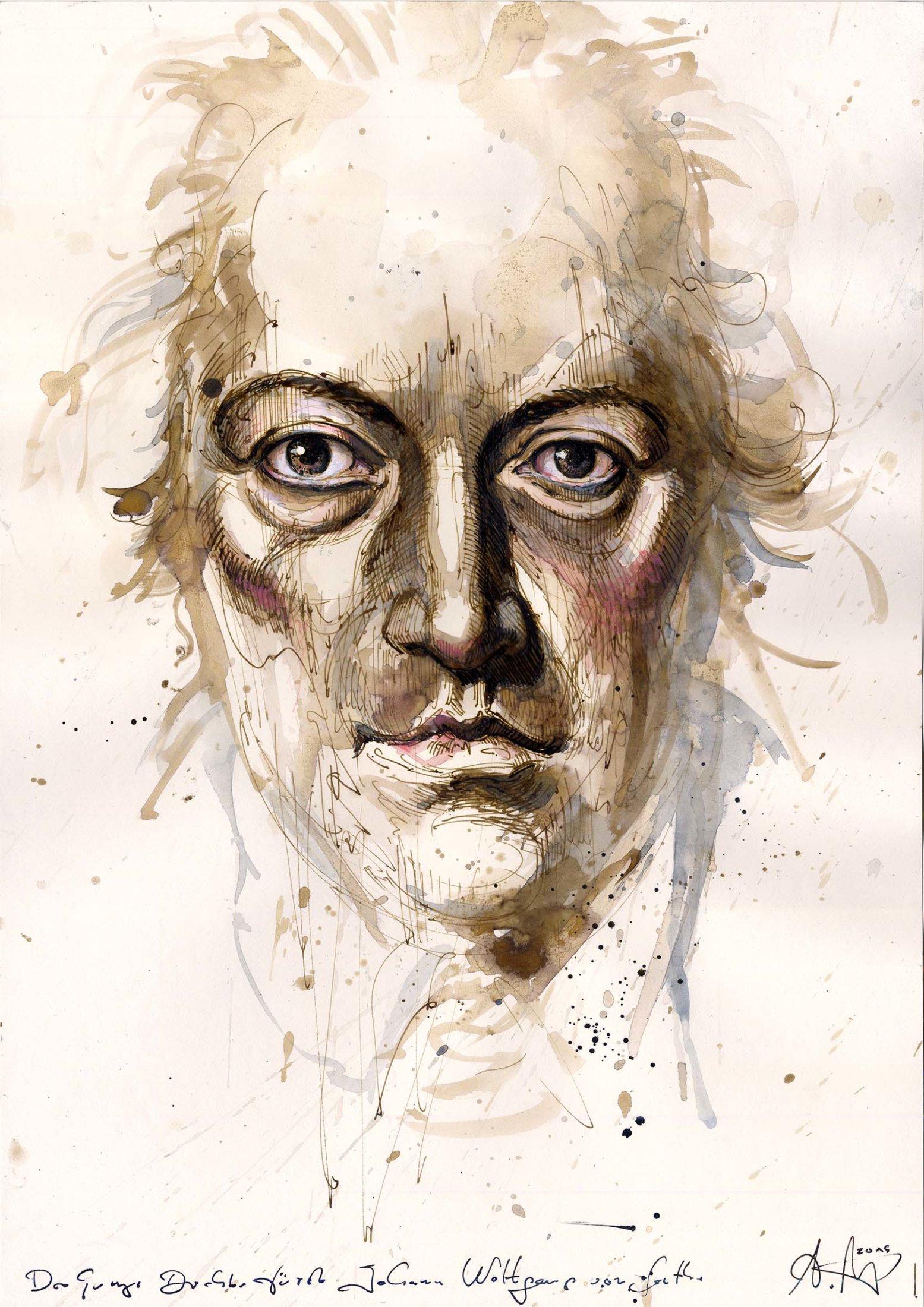 Der junge Dichterfürst Johann Wolfgang von Goethe