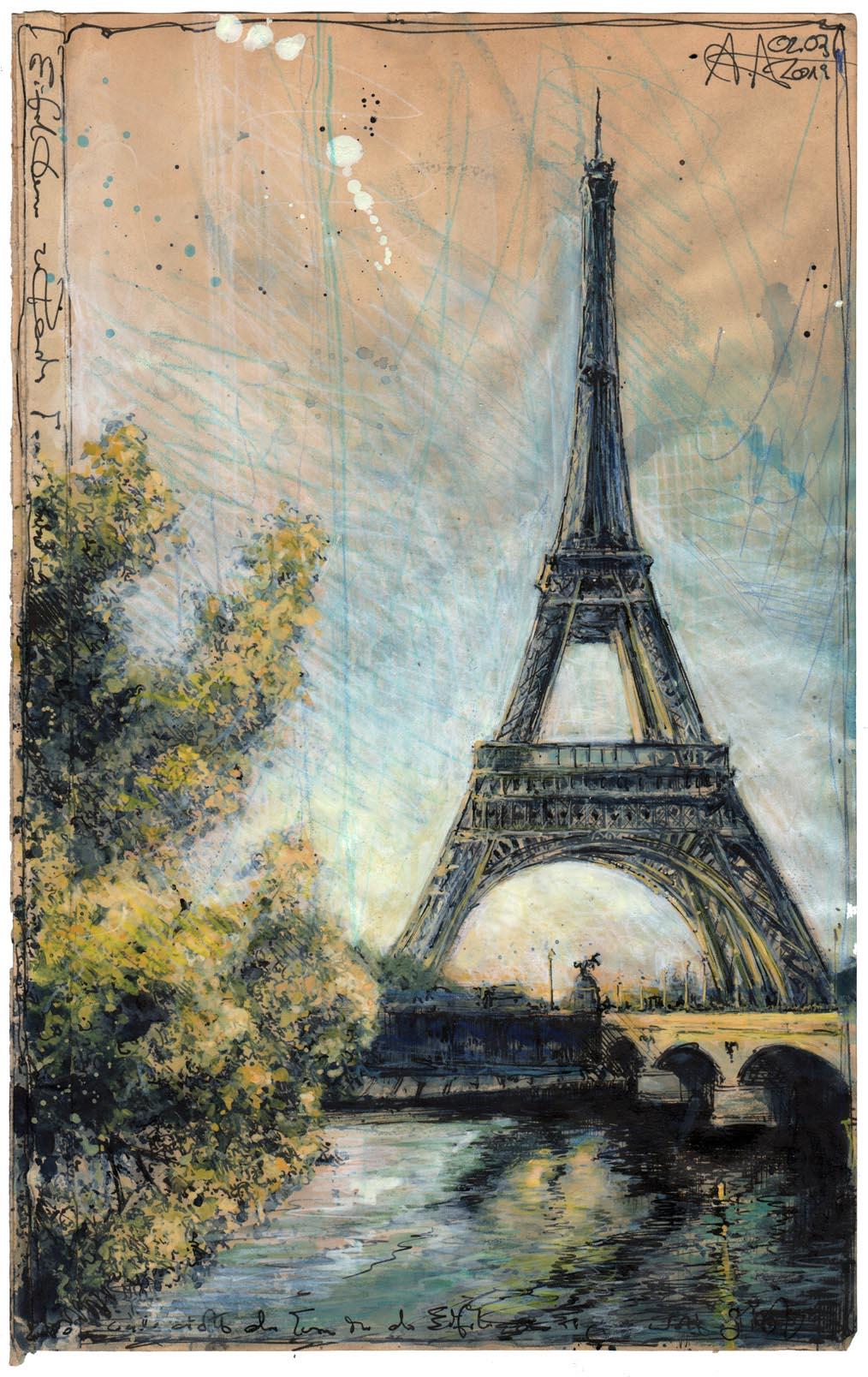 Eiffelturm zu Paris; nicht der Turm in der Eifel, den es gar nicht gibt