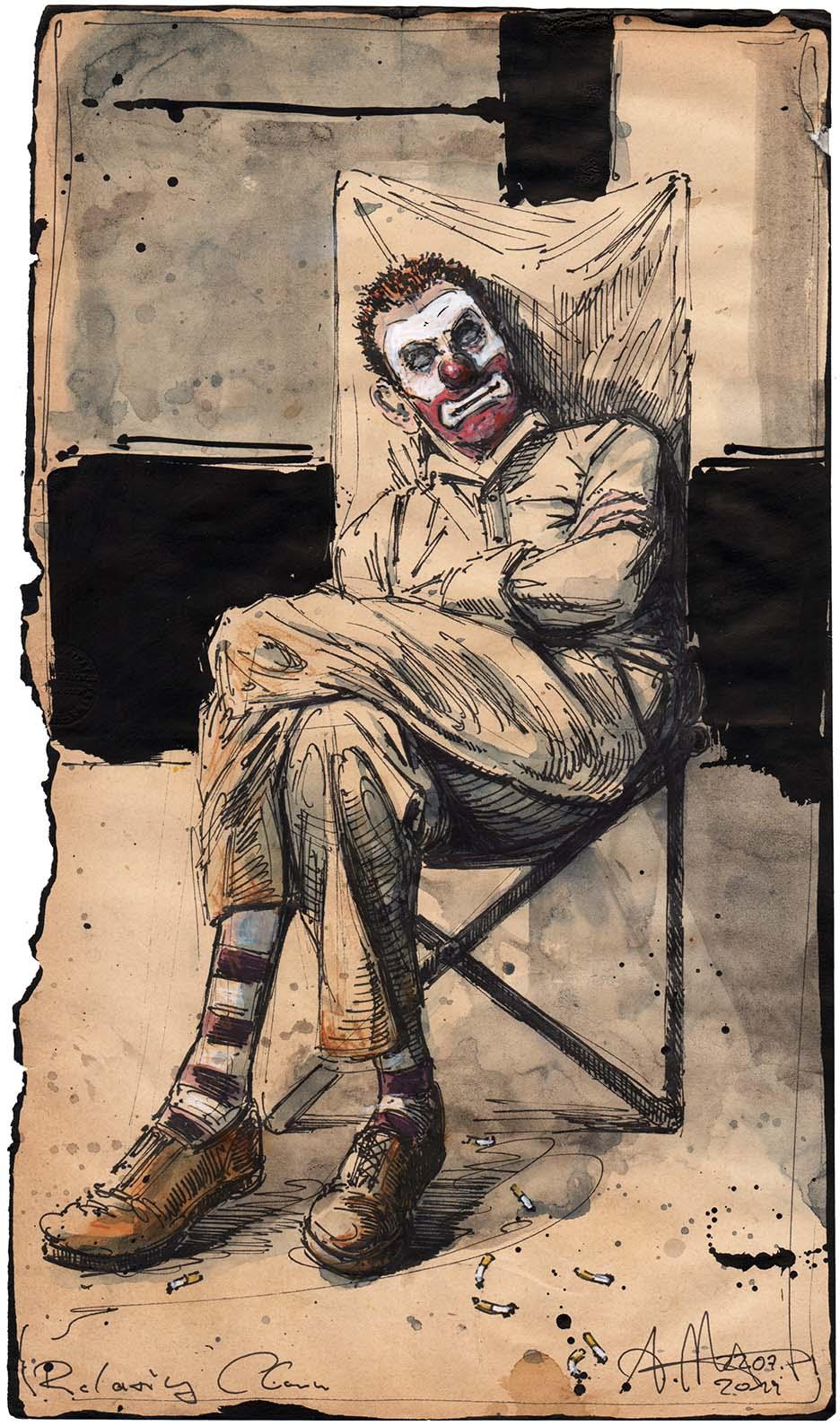 Relaxing Clown