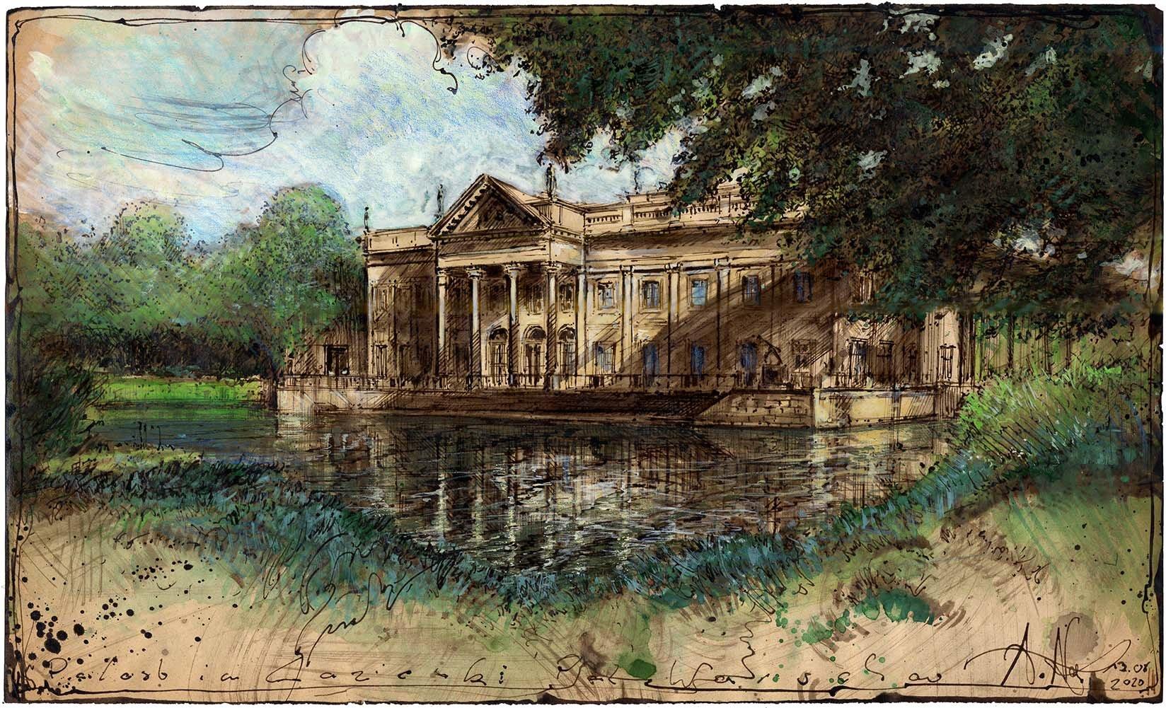 Palast im Lazienki Park Warschau
