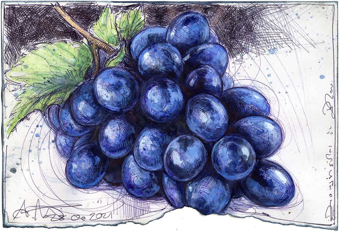 Dionysisches in Blau