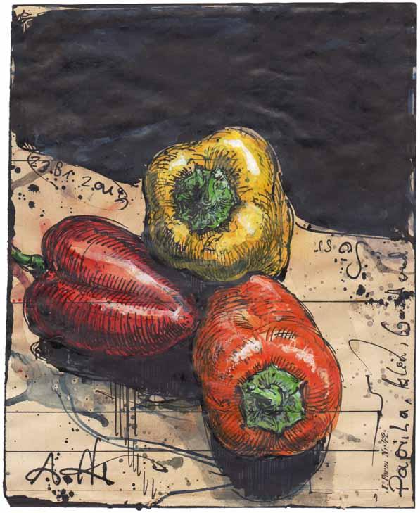 Paprika, klein, bunt und süss