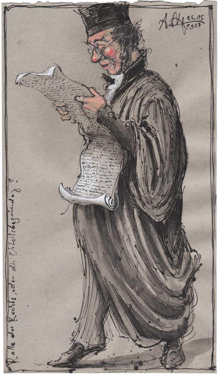 Rolle des Rechts oder die Urteilsverkündung