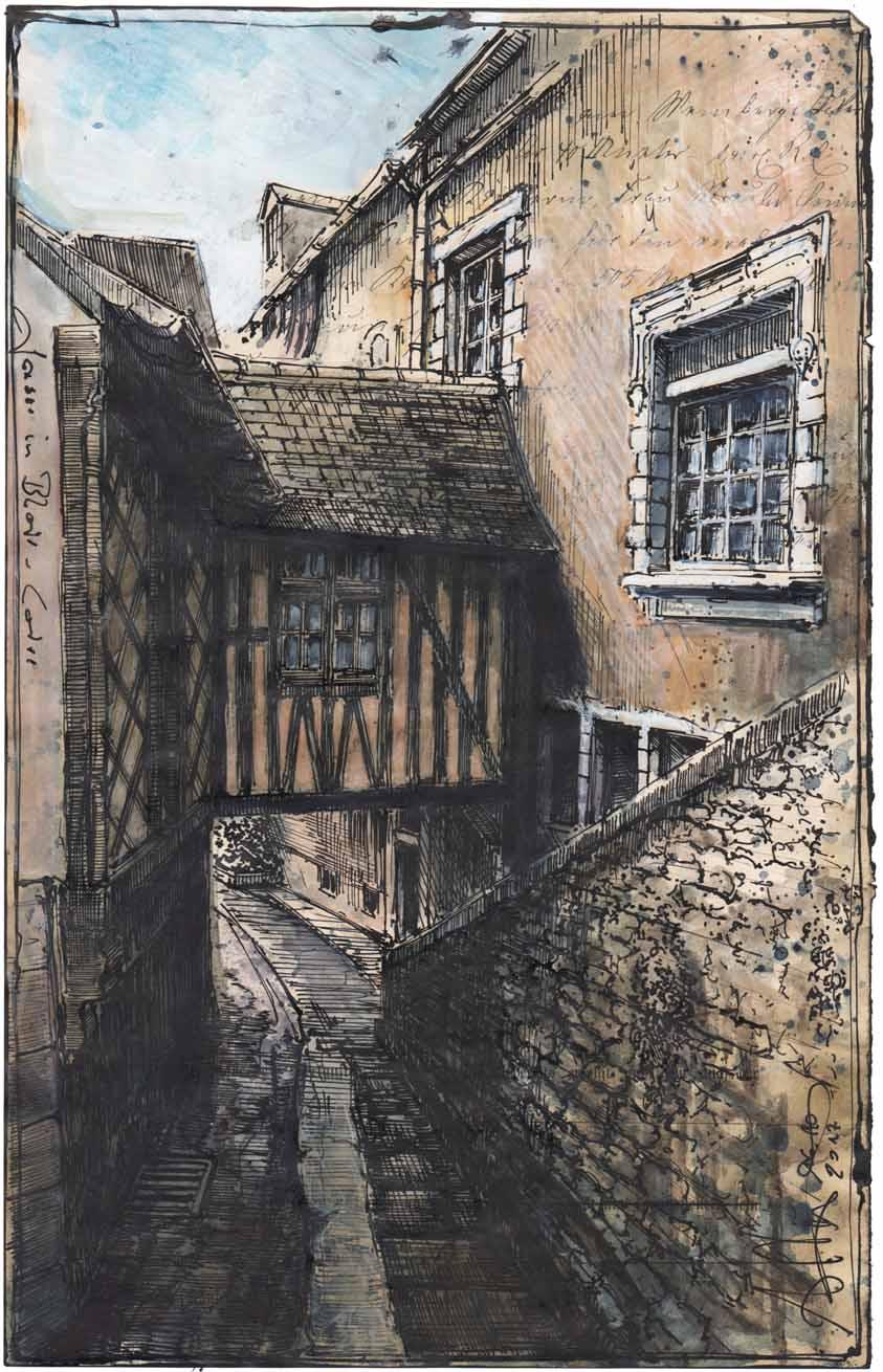 Gasse in Bloir - Loire