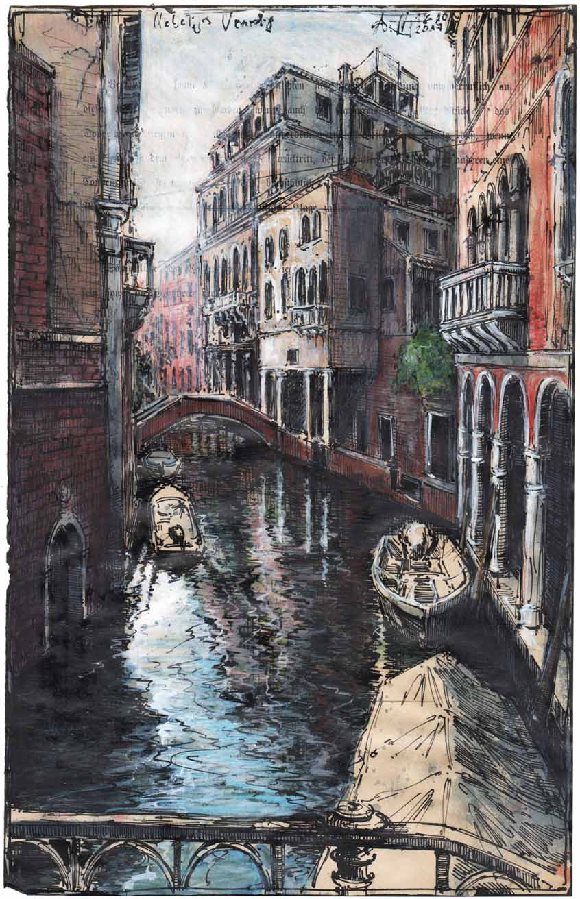 Nebeliges Venedig