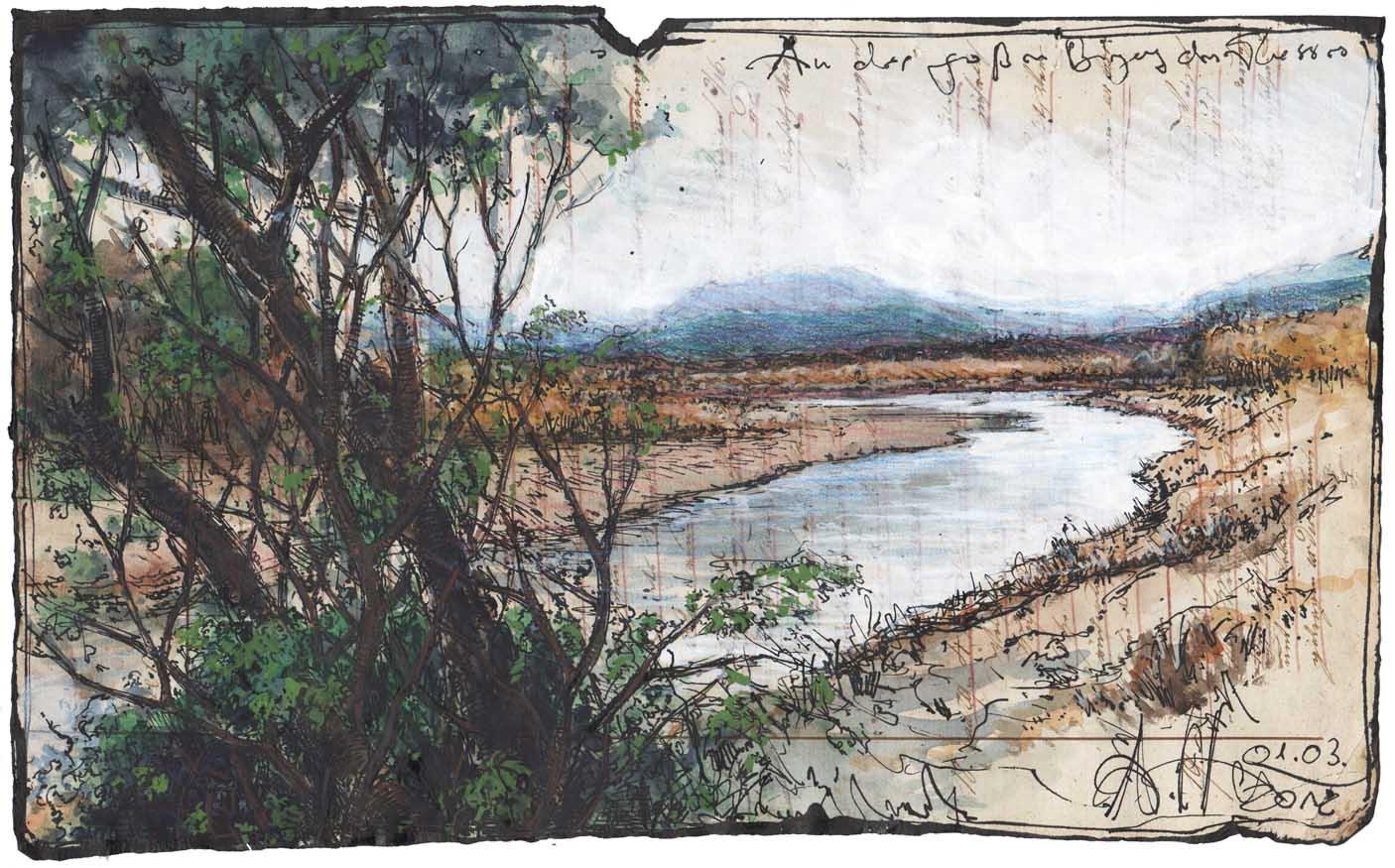 An der großen Biegung des Flusses