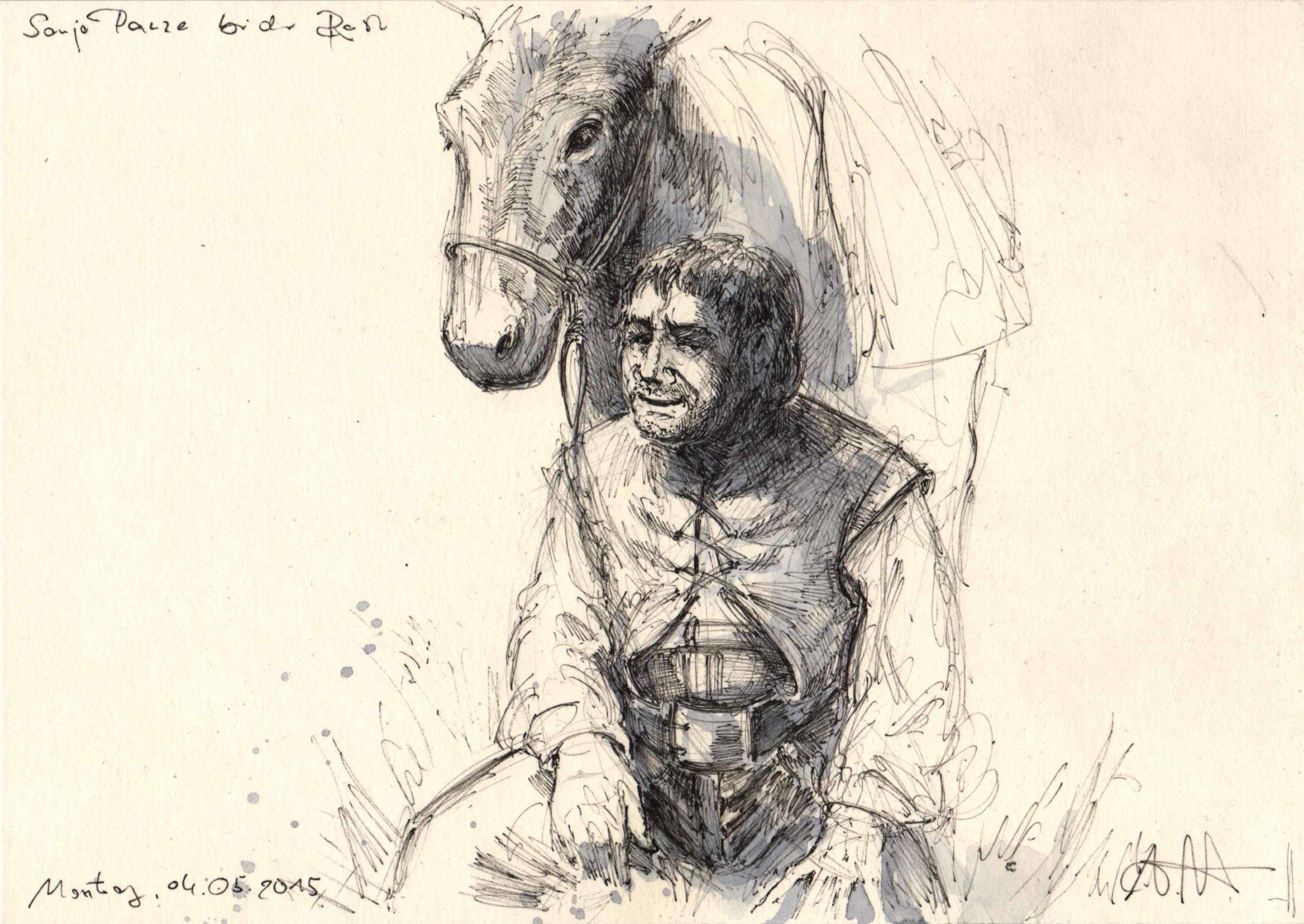 Don Quijote bei der Rast