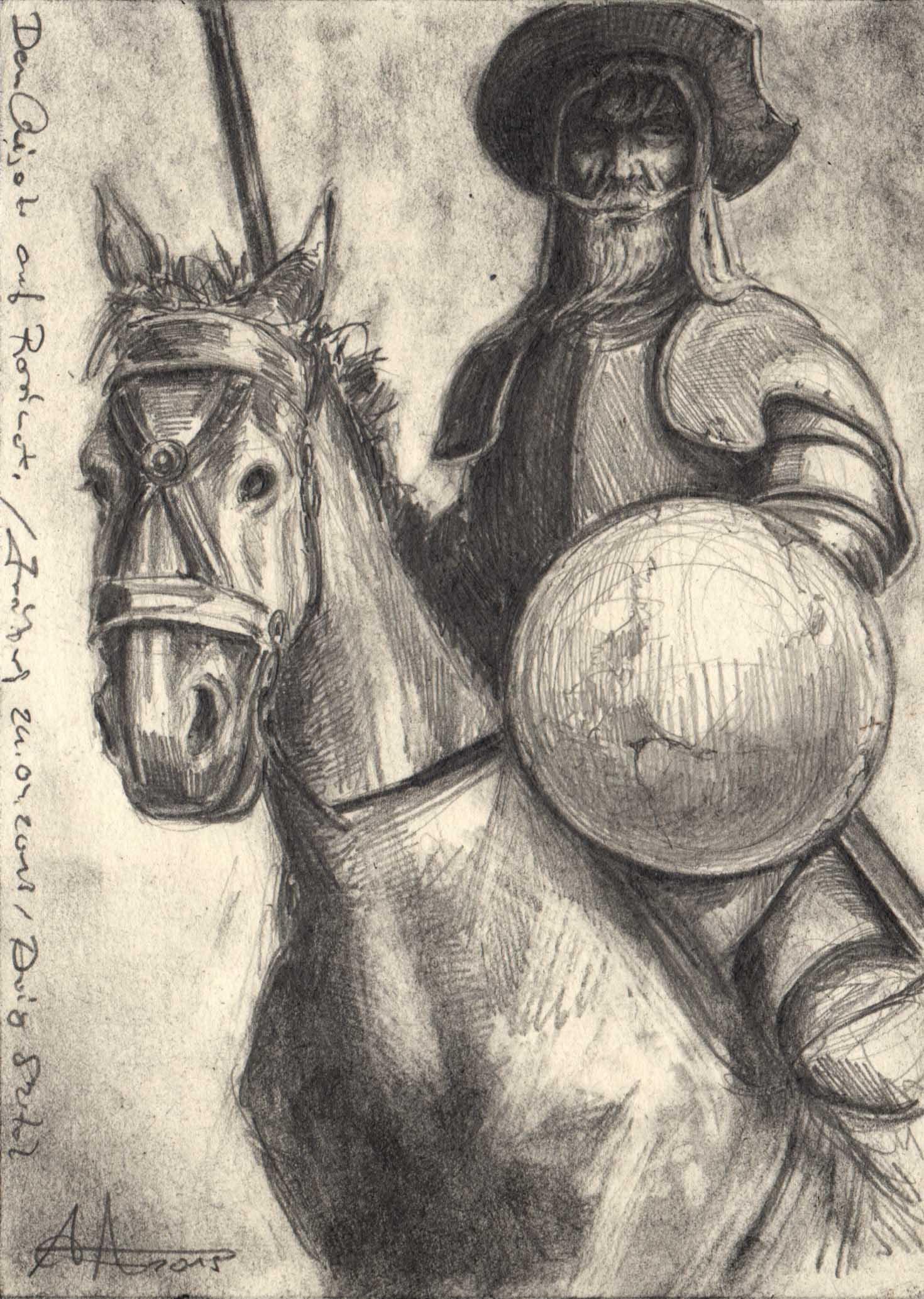 Don Quijote auf Rosinante