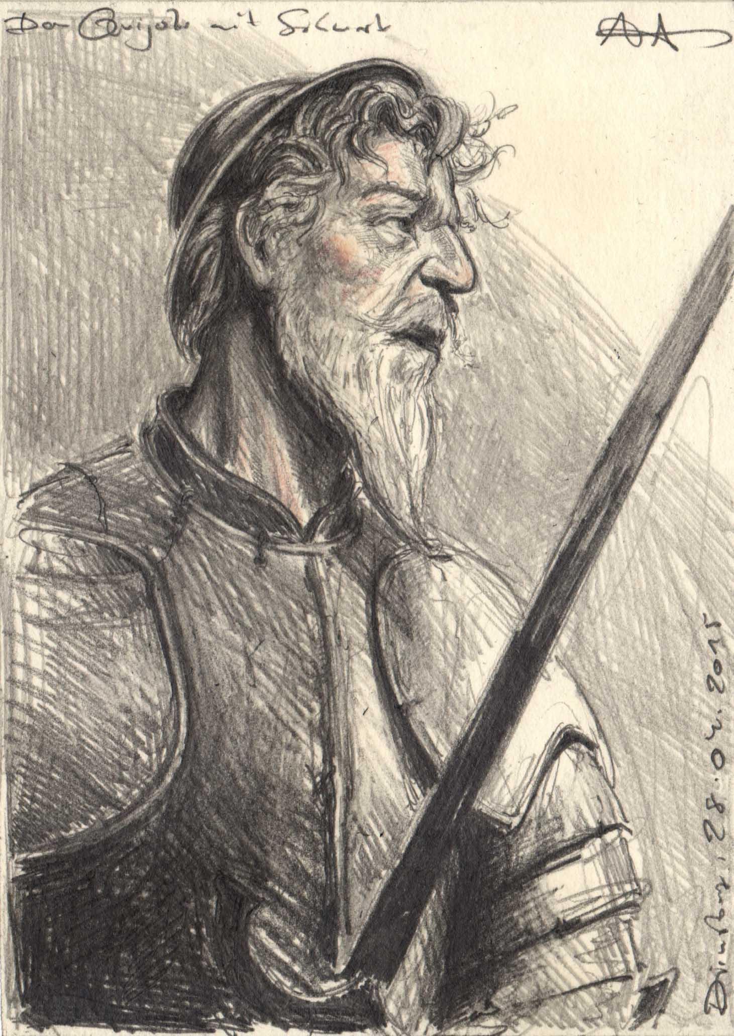 Don Quijote mit Schwert