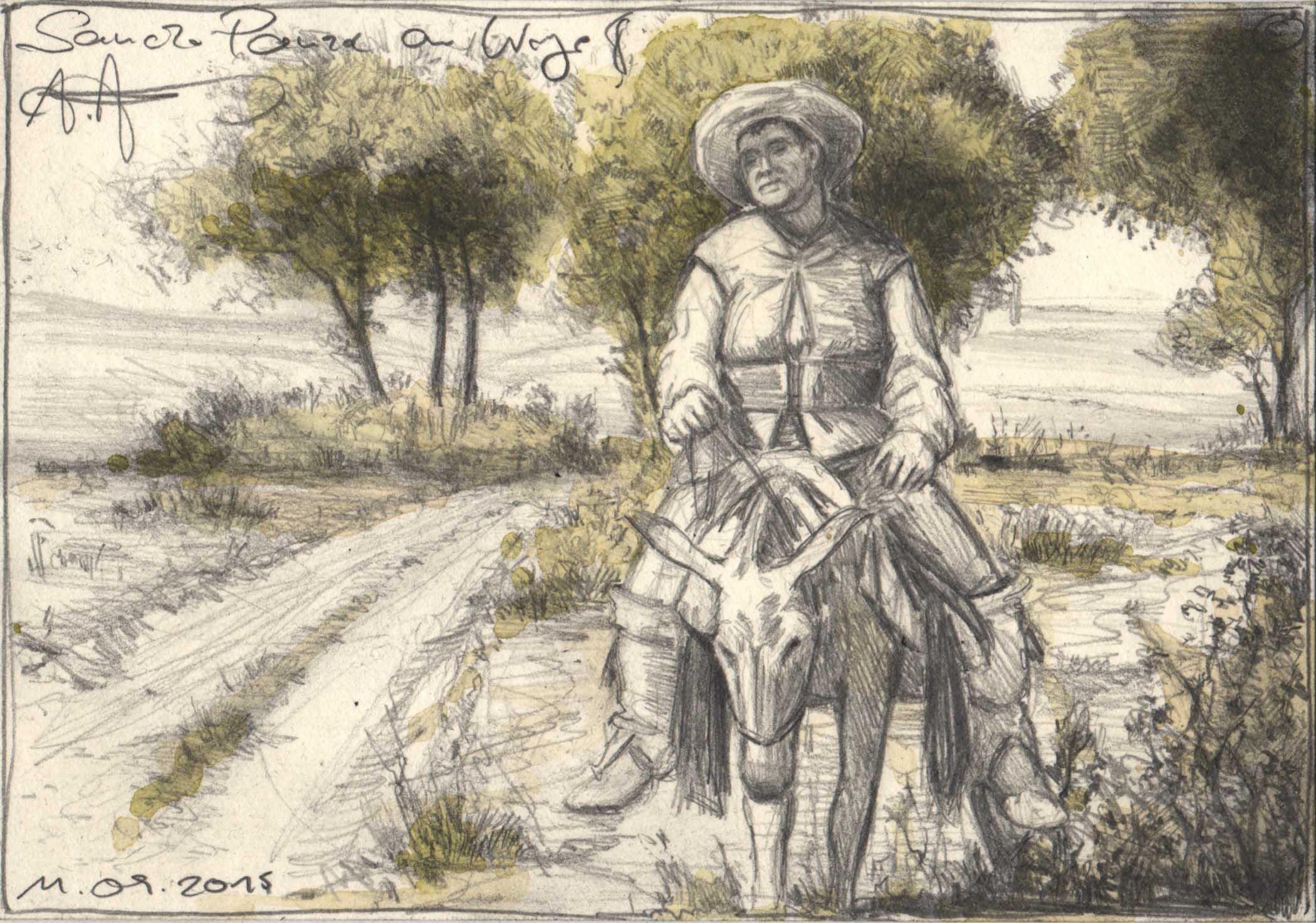 Sancho Panza am Wege