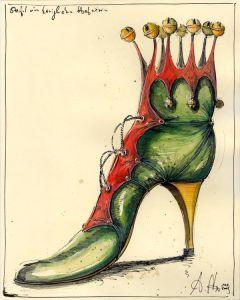 Schuh einer königlichen Hofnärrin