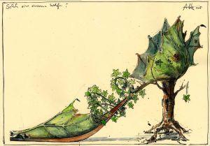 Schuh einer einsamen Waldfee