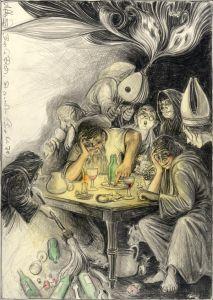 Beeile Dich, Sie erwachen (n. Goyas Capricho No. 78)