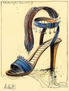 Fußschweiss freier Damenschuh