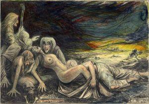 """Das Morgen """"Grauen"""" (n. Goyas Capricho No. 71 - Sie amanece; nos Vamos)"""
