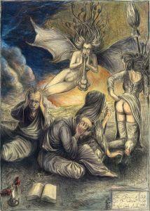 """Von Lärm und Gestank - """"Die Ohrenbläser"""", frei n. Goyas Caprichos No. 48"""