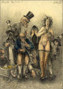 Die große Brautschau (frei n. Goyas Capricho No. 14 - Welches Opfer)