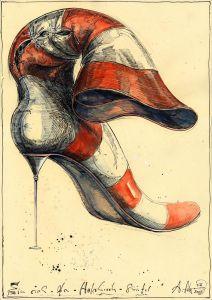 Ein sich-den-Halsbrech-Stiefel