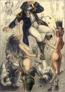Das Steigen und Fallen der von und zu (frei n. Goyas Capricho No.56)
