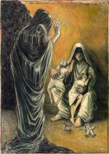 Der Schwindel vom Schwarzen Mann (frei n. Goyas Capricho No. 3)