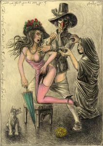 Gleich und gleich gesellt sich gern (frei n. Goyas Capricho No. 5)