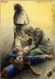 Die Liebe und der Tod (frei n. Goyas Capricho No. 10)