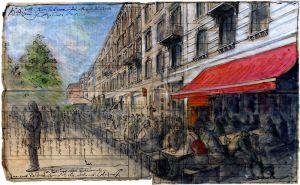 Bin fast noch katatonisch und Roland fummelt schon wieder nach Weißwein - Schanzenviertel, die friedliebende Caféhaus Meile