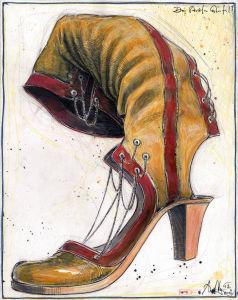 Drei Streifen Stiefel