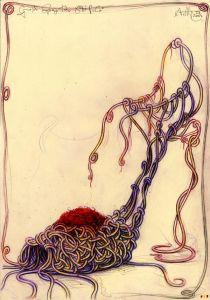 Große Spaghetti Stiefelei