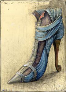 Schuh eines einsamen Burgfräuleins