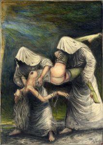 Eine geheimnisvolle Entführung (frei n. Goyas Caprichos No. 8)