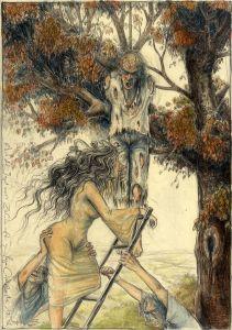 Auf der Jagd nach Zähnen (frei n. Goyas Capricho No. 12)