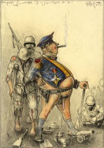 Die große Generalität (frei n. Goyas Capricho No. 76)